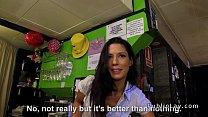 Spanish amateur bangs pov in public bar thumb