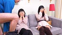 Subtitled CFNM Japanese friend watches surprise blowjob porn videos