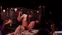 Subtitled HD CMNF Japanese woman in cage witchc...