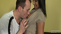 Pretty french tanned girl hard fucked and jizze... thumb