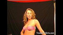 Sexy blonde enjoys giving a rimjob