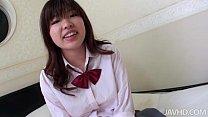 Ai Okada in her school uniform is spread wide for a stiffy porn videos