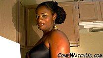 senual sex in kitchen by ebony couple