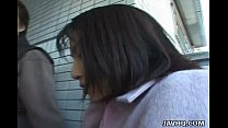 Lovely Asian public blowjob here porn videos