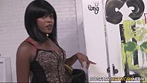 Karma May Fucks A White Gloryhole Cock In Her First Interracial Scene thumbnail