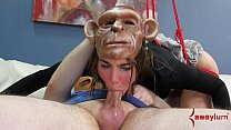 session humiliation anal rough for monkey into turned girl Hot