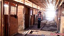 canadian cowgirl shanda fay gets fucked in the barn