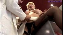 Gorgeous italian blonde MILF DP fuck porn videos