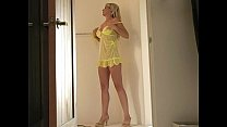 Lia's yellow lingerie porn videos