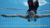 Cute Umora is swimming nude in the pool porn videos