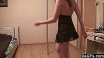 Sexy russian teen loves pole dancing