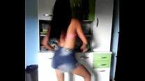calcinha sem funk dançando Novinha