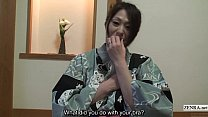 Subtitled uncensored shy Japanese milf in yukata in POV porn videos