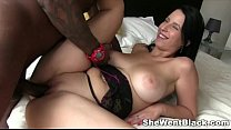 busty euro chrissy gets an creampie