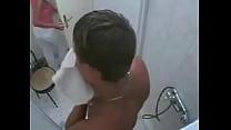 ducha la en sobrino a sorprende Tia