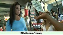 Hot teen girl let us fuck her for cash 12