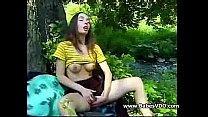 Meri solo in the woods