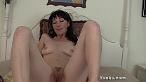 Cute Brunette Amelia Toy Her Pussy