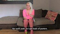 FakeAgentUK Amateur petite blonde girl empties ...