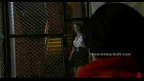 Brunette prisoner with sexy ass spanked and fuc...