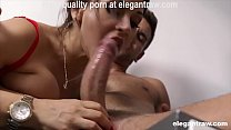 Good morning hardcore quickie for a hot brunette MILF Cougar