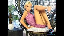 Petite Nikki Blond in pigtails spread and plays... thumb