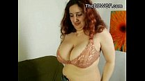 Naughty Fat BBW friend playing with a rope and ...