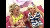 Innocent blonde teen learns about fucking and f...