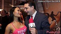 PussyKat gives a blowjob lesson for Andrea Diprè thumb