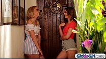 kristen scott and chloe couture lick new roommate lily rader