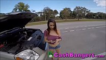 Stranded Horny Big Boobs Teenager Takes Money F...