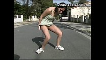 brunette teen flashing outdoor porn videos