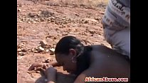 African bitch bonded and abused