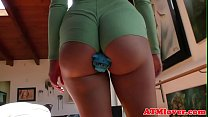 Ass gaping babe uses toys on her asshole