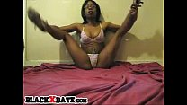 flexible black babe shakes her tiny ass