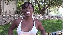 Ebony teen spunked pov porn videos