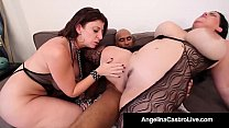 Cuban BBW Angelina Castro & King Noir Make Sara...