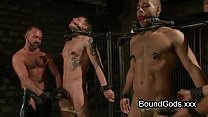 two on two in bdsm gay sex with cumshot – Free Porn Video