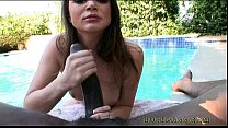 tori black gives some poolside head