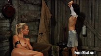 Curvy Lesbian Mistress Giving Orders To Slave