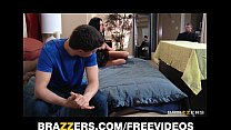 Teen voyeur gets to fuck Aryana Augustine in fr...