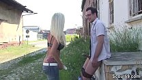 Cute German Teen Seduce to Fuck Outdoor by Stra...