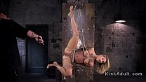 Tied up blonde slave pussy vibed