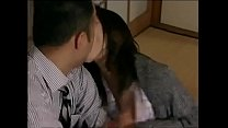 Japanese hot wife cheats  with neighbor when her husband is sleeping porn videos