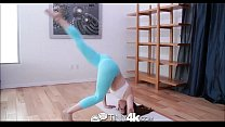 4k in mat yoga on hard fucked teen petite Tiny4k