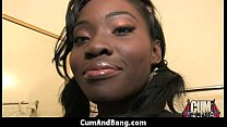 Nice ebony fucked by several white guys in all ...