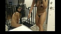 Asian teens doing naked pizza delivery challeng...