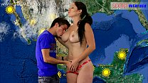 assistant tv by fucked gets weather-girl Slut