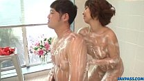 Risa Mizuki gets busy with cock during soapy xxx play porn videos