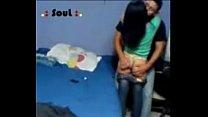Young student couple latina